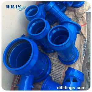 TAWIL epoxy coated ductile iron pipe fittings with WRAS Certificate