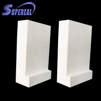 Wear resistant 92% alumina ceramic L shape lining tiles / plates / bricks / parts