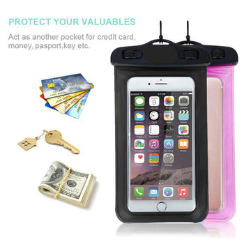 2019 Universal Water Proof Pvc Mobile Phone Cases Clear Pouch Waterproof Bag Cell With Lanyard