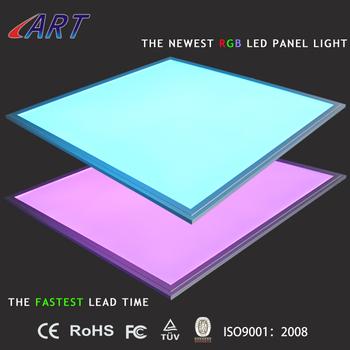 Rgb Flat Ceiling Lights 60*60cm Colour Changing Remote Control Rgb ...