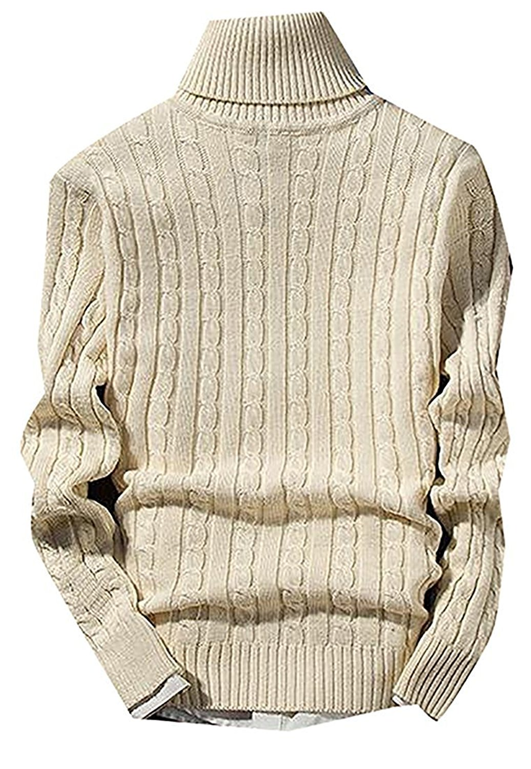 b5ff023dce4 Get Quotations · B dressy Fashion Mens Casual High Neck Soft Stretch Knit  Solid Pullover Sweaters