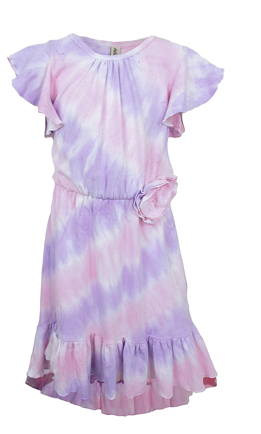 Mignone Girls High-Low Hem Tie Dye Dress
