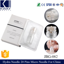 Hydra needle 20 micro needles skin rejuvenation cosmetic device derma stamp used for beauty