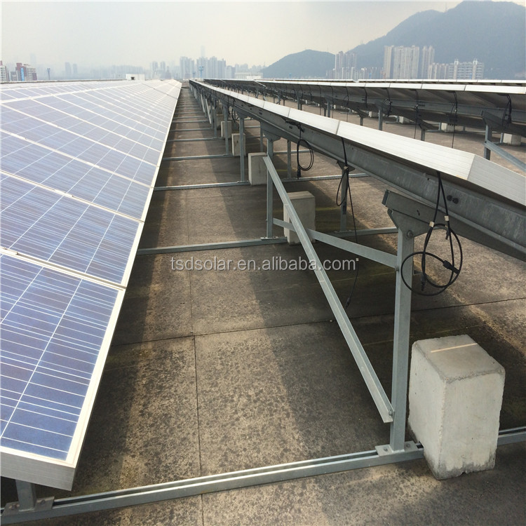 conrete aluminum mounting system solar power plant 1 mw