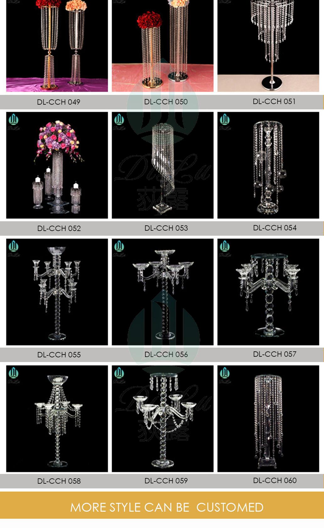 Wholesale Tall Long-stemmed Decorative Candle Holder Glass Long Stem Candelabra For Wedding Ceremony