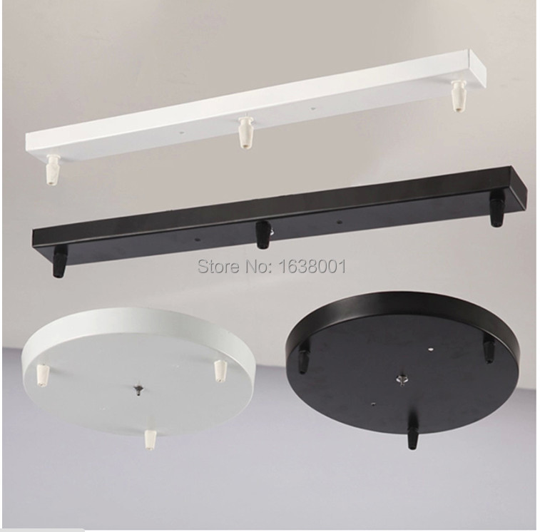 DIY 3 Heads Ceiling Plate Light Cover Pendant Light