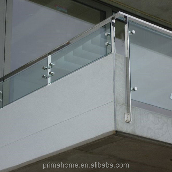 Stainless Steel baluster,balustrade,newel ss post glass railing for stair/balcony