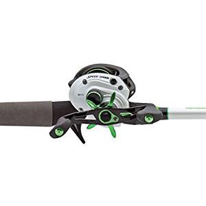 "Lews Fishing Mach 1 Speed Spool Baitcast Combo 6'10"" Length, 7.1:1 Gear Ratio, 9+1 Bearings, Medium/Heavy Power, Left Hand"