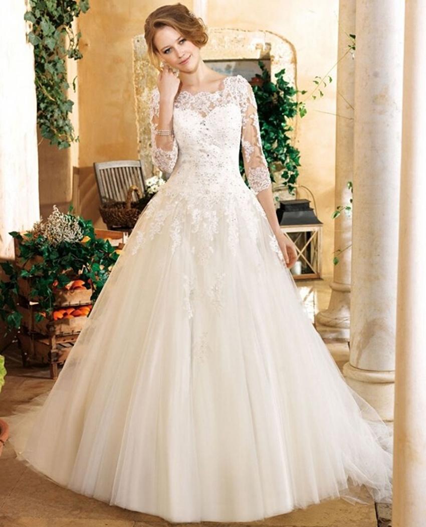 Vintage Lace Cap Sleeves Tulle Princess Wedding Dresses: Aliexpress.com : Buy Elegant White Beaded Sequin Tulle