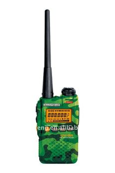 Dual Band 5w Fm Transmitter Long Range Handheld Two Way Radio Police Communication Equipment UV