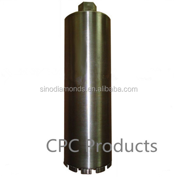 dry drilling concrete core drill/diamond core drill bit for reinforce concrete