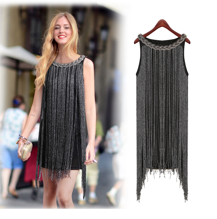 6cf022ccbc050 Detail Feedback Questions about HALTER NECK FRINGE BEADED WOMAN DRESS GREAT  GATSBY OMBRE METAL Latin Dance BODYCON 1920S FLAPPER CHARLESTON SEXY PARTY  DRESS ...