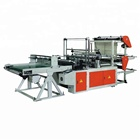 4 lines 2 layers heat bottom sealing and cold cutting polythene PE plastic film T-shirt shopping flat garbage bag making machine