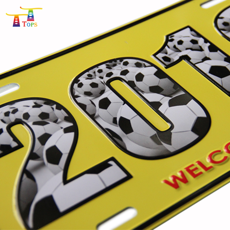 Wholesale Vehicles Accessories Embossing Blank Sublimation Customized Logo Plates Blanks Reflective Embossed License Plate