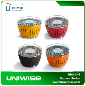 Smokeless Mini Charcoal Lotus BBQ Grills with various color