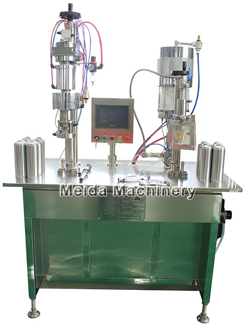 Bag on valve aerosol filling machine with good air tightness