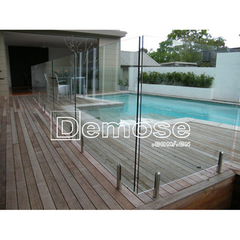 Frameless Tempered Glass Pool Fencingportable Swimming Pool Screen