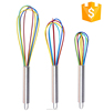 Hot-Selling Cheap silicone stainless steel kitchen non-stick egg beater, silicone egg whisk