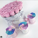 Custom mini single marble printing rose round flower packaging box from EECA