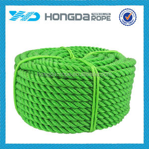 Fishing net factory green 3 strand color twisted rope