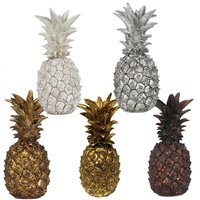Wholesale artificial gold and silver resin pineapple home decor