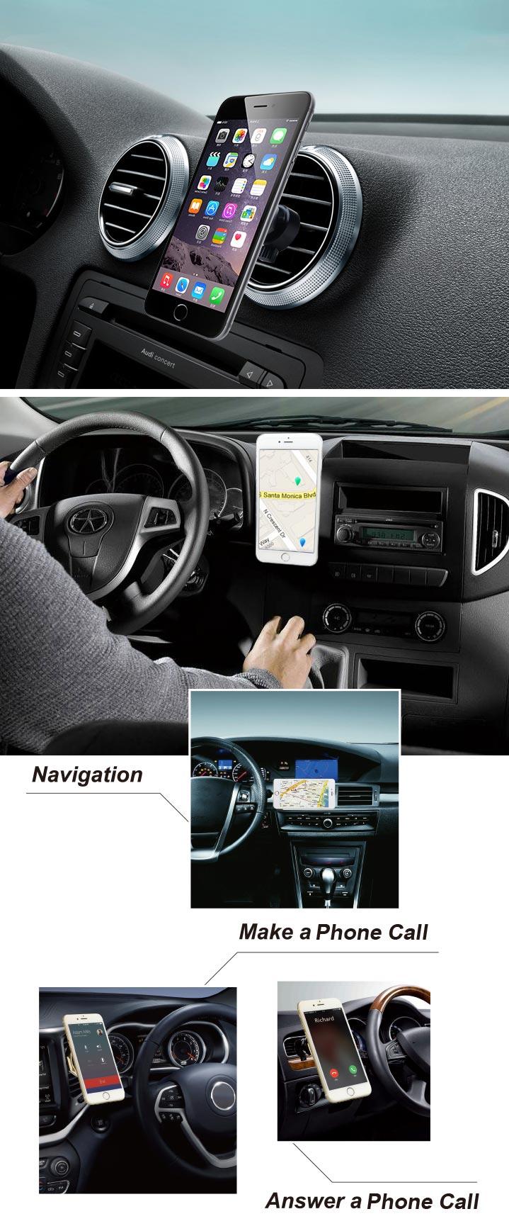 360 360도 회전 자동차 자기 휴대 휴대 전화 홀더 마운트 브라켓