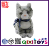 High quality realistic plush animal toys stuffed cat