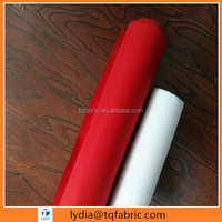 "double sided brushed 100% cotton red and white flannel fabric in roll 20sx10s/40x42 35""/36"""