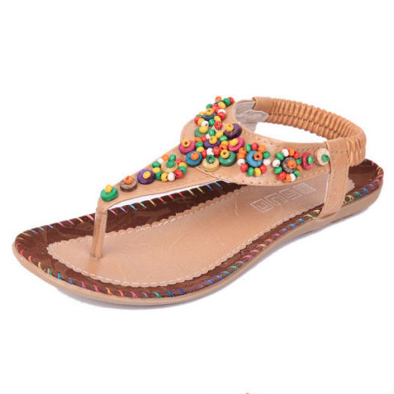 beach flat flip flops women with beading candy color comfortable sole visvim sandal prado shoes. Black Bedroom Furniture Sets. Home Design Ideas