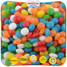 Assorted flavours low sweet mini round shaped fruit jelly candy