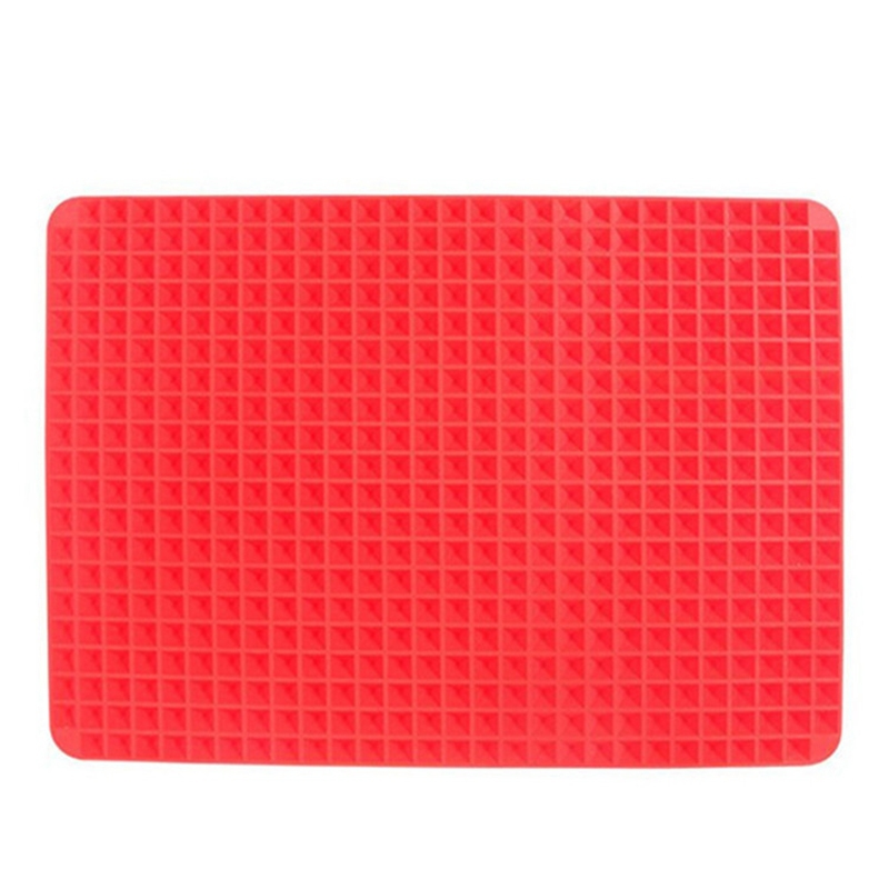 Thin Silicone Baking Mat, BakeBear Pyramid Pan Silicone Mat Mould Cooking Oven Baking Tray Fat Reducing Non Stick High Quality