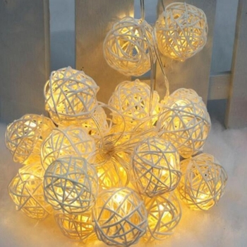 economical Patio Cafe bedroom party wedding  decoration Hanging Christmas rattan ball string light