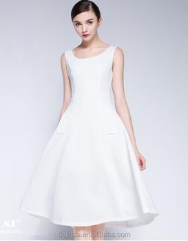 Vestito bianco lungo elegante