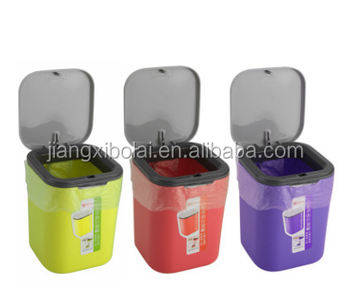 Marvelous Plastic Mini Table Trash Can,waste Bin,dustbin