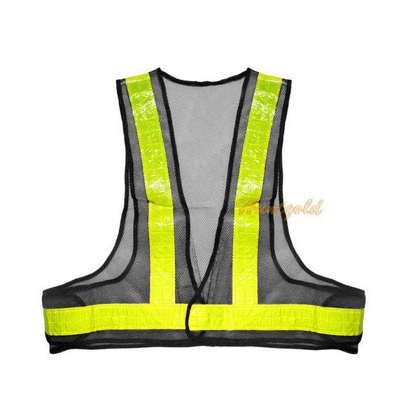 Открытый безопасности светоотражающий жилет безопасности высокая видимость полосы куртка сетки жилет