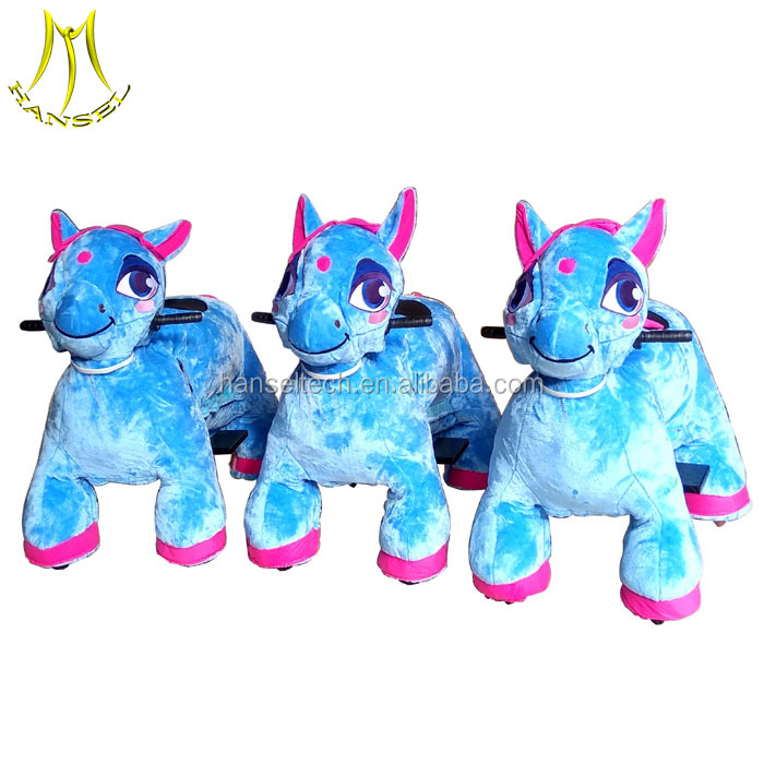 Hansel horse toy ride from china and intdoor kiddie ride equipments for mall with electric kids ride on car 24v