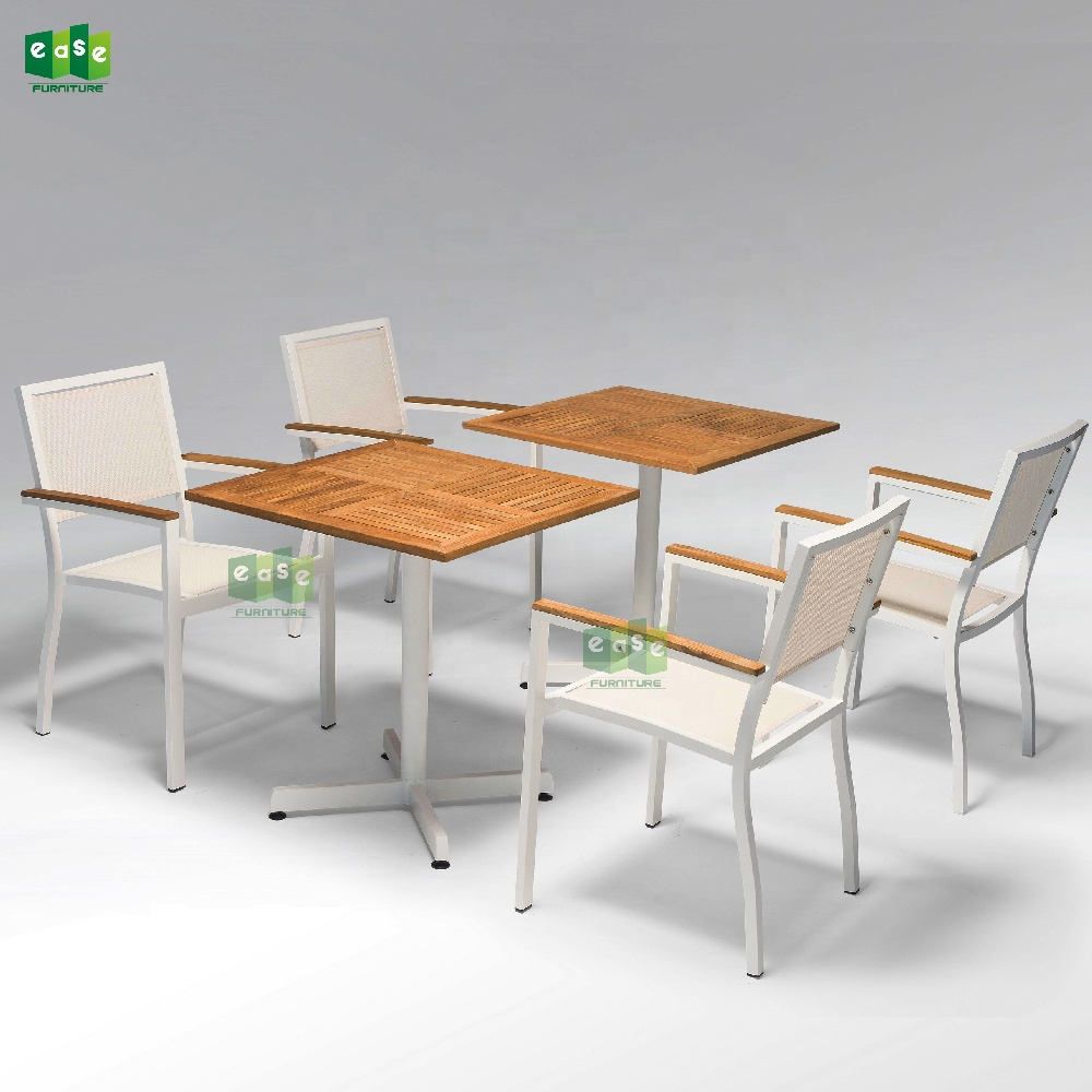 Modern Cafe Restaurant Garden Table Chair 3 Piece Bistro