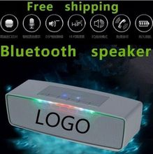 With logo Free shipping Big power Wireless Bluetooth Speaker 10W Stereo audio sound with microphone built in 1200mAh Battery