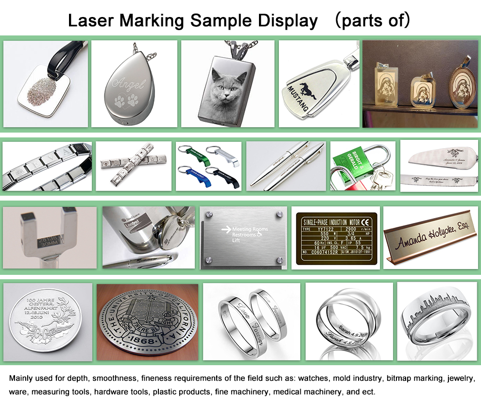 Split 20W 50W Fiber Jewellery Metal Marking Machine