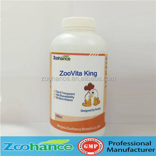 Water soluble multivitamin liquid for concentrate poultry feed
