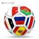 Wholesale Cheap Machine Stitched Country Flag Football,Custom PVC Promotional Soccer Ball