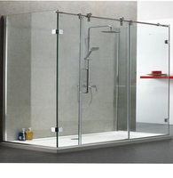 10mm tempered glass bath screen curved shower screen
