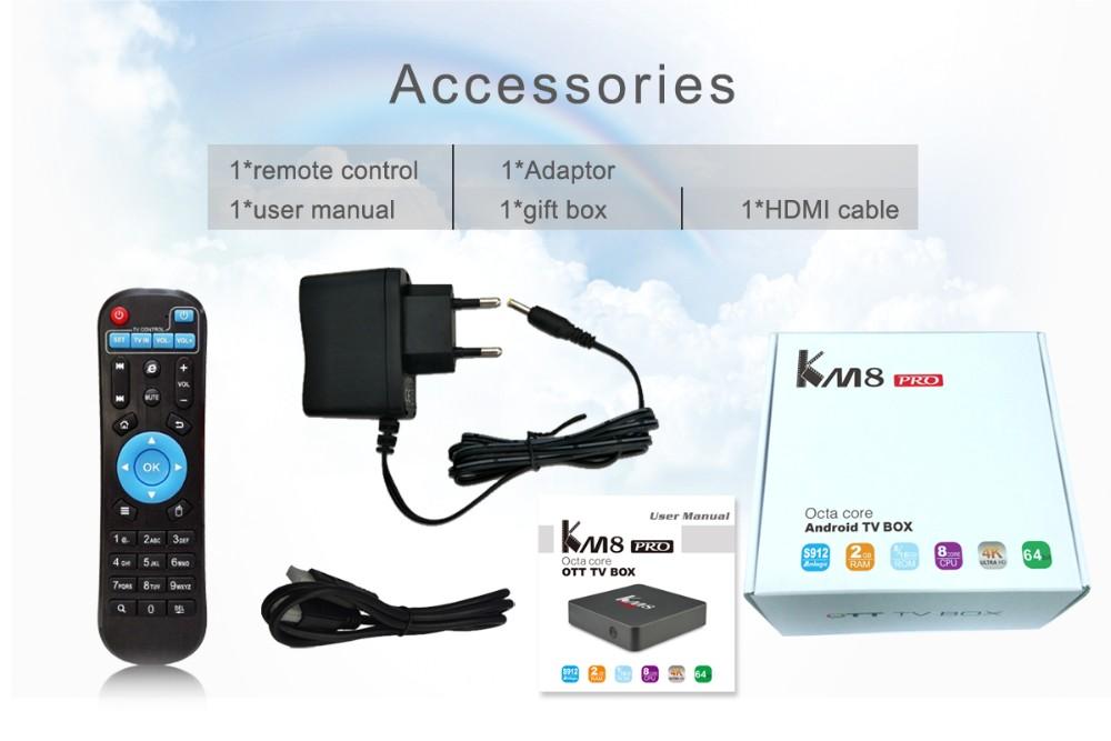 Soyeer 4k Android Tv Box Amlogic S912 Linux Openelec 2gb Ram 8gb Rom Km8  Pro 7 0
