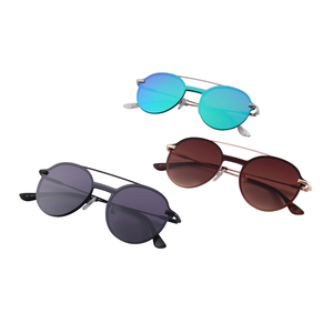 Newest uv400 metal Sun Glasses women rimless sunglasses