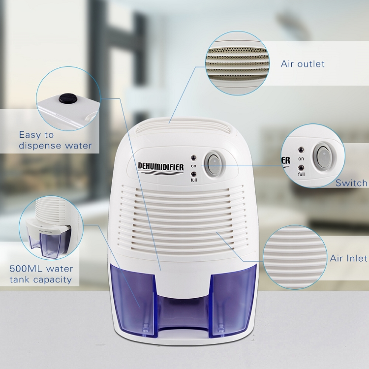 Mini small 500ml portable air conditioner dehumidifier
