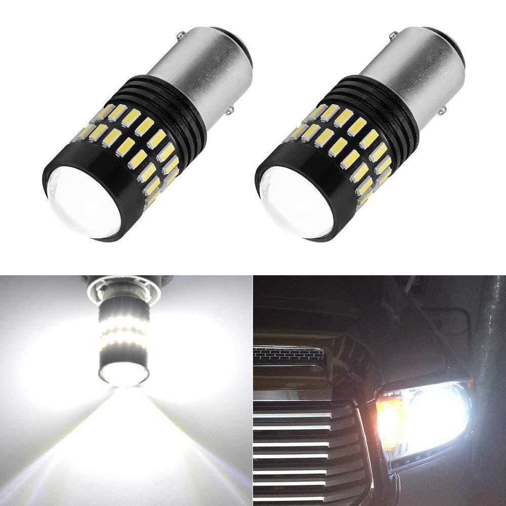 YITAMOTOR 1157 BAY15D LED Tail Brake Reverse Backup Light for RV Trailer Camper Bulb, 2 Pieces 48-SMD 4014 3.9 Watt LED 1034 1154 P21/5W Bulbs