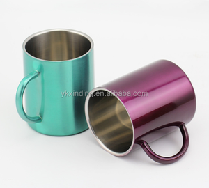 Durable 280ML Stainless steel Coffee Mug Tumbler Camping Mugs Stainless Steel Cup Traveling For Both Hot and Cold Beverages
