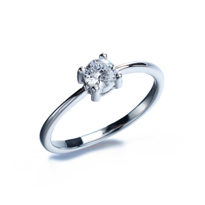 solid silver single stone finger ring cz diamond one stone ring designs wedding ring
