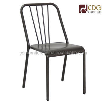 Industrial Furniture Wholesale Metal Restaurant Chair French Vintage Metal  Dining Chairs Bistro Chair