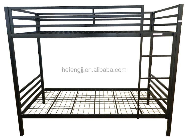 EN747 passed kids metal bunk bed square double deck bed